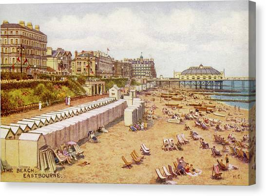 Eastbourne, Sussex A View Canvas Print by Mary Evans Picture Library