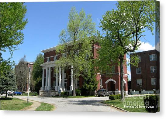 Eastern Kentucky University Canvas Print -  Eastern State Hospital by GG Burns