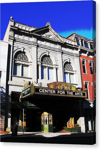 Easton Pa State Theater Center For The Arts Canvas Print by Jacqueline M Lewis