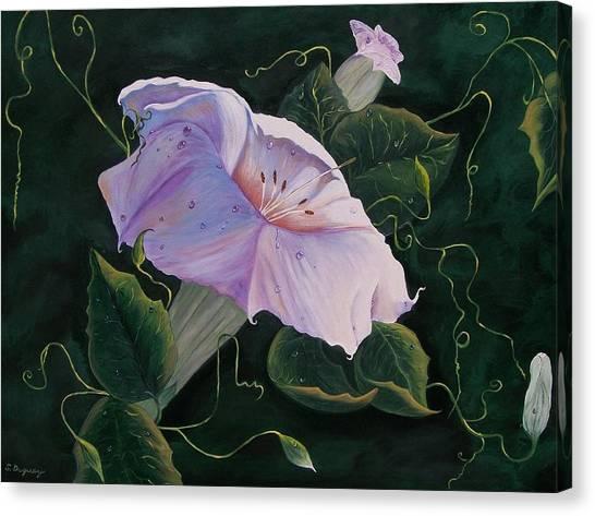 First  Trumpet Flower  Of Summer Canvas Print