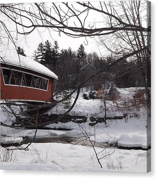 Spam Canvas Print - :) #follow #like #winter #lights #like by Zoe Sutter