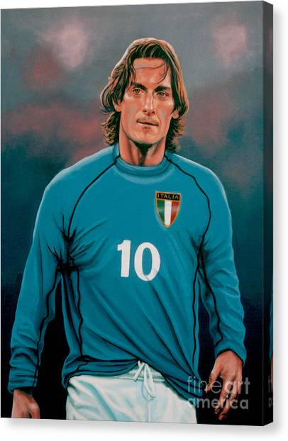 Soccer Teams Canvas Print -  Francesco Totti 2 by Paul Meijering