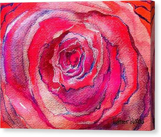 French Pink Canvas Print