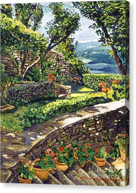 Stone Steps Canvas Print -  Garden Stairway by David Lloyd Glover