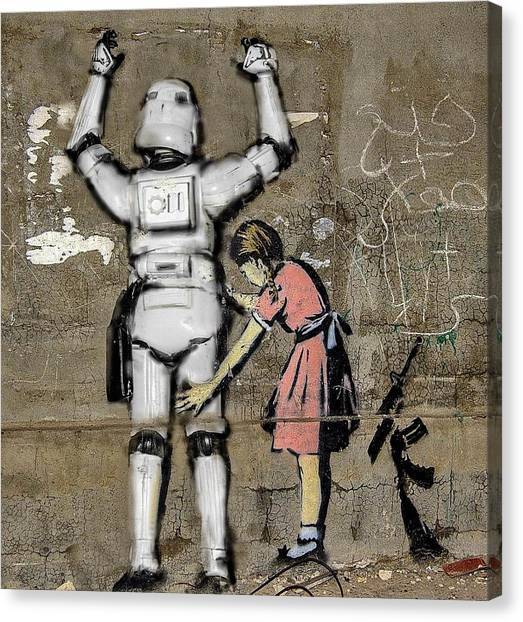 Star Wars Canvas Print -  Girl And Clone by Tony Leone
