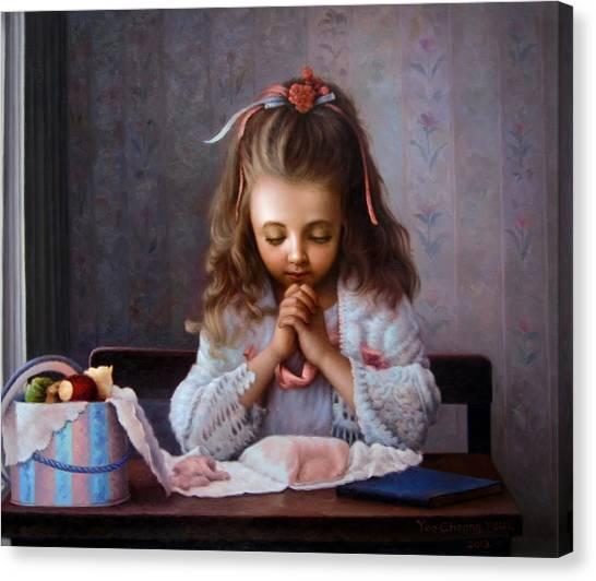 Girl's Prayer Canvas Print