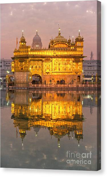 Golden Temple In Amritsar - Punjab - India Canvas Print