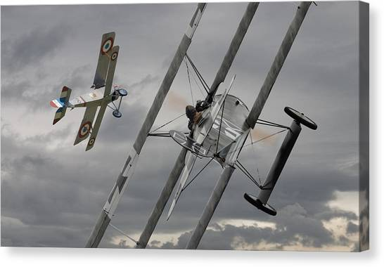 Biplane Canvas Print -  Gotcha by Pat Speirs