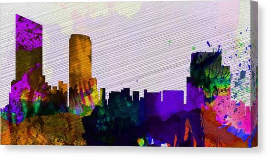 Rapid Canvas Print -  Grand Rapids City Skyline by Naxart Studio