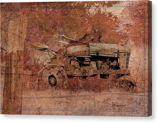 Grandpa's Old Tractor Canvas Print