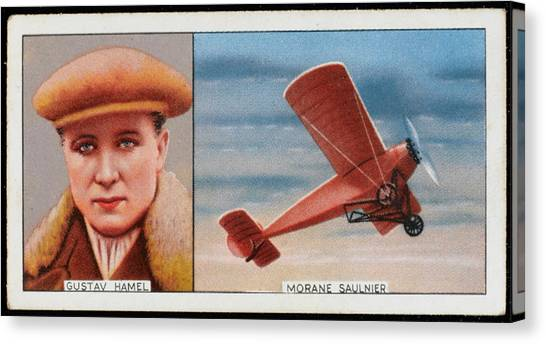 Hamels Canvas Print -  Gustav Hamel, British  Pioneer by Mary Evans Picture Library