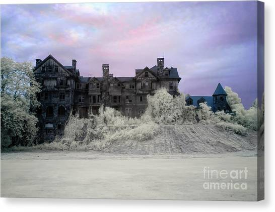 Junior College Canvas Print -  Halcyon Hall Infrared by Rick Kuperberg Sr