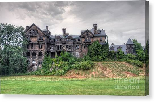 Junior College Canvas Print -  Halcyon Hall  by Rick Kuperberg Sr