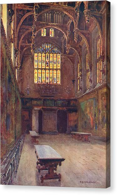 Hampton Court The Great Hall Canvas Print by Mary Evans Picture Library