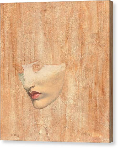 Finish Line Canvas Print -  Head Of Proserpine by Dante Charles Gabriel Rossetti