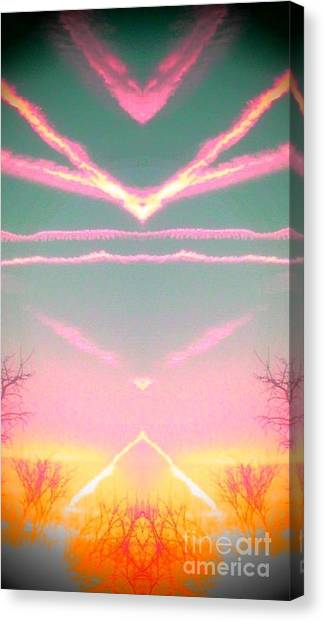 Heavenly  Contrails  Canvas Print