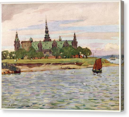 Helsingor  Kronborg Castle        Date Canvas Print by Mary Evans Picture Library