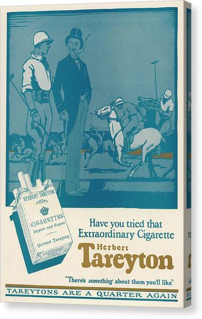 Herbert Tareyton Cigarettes - There's Canvas Print by Mary Evans Picture Library