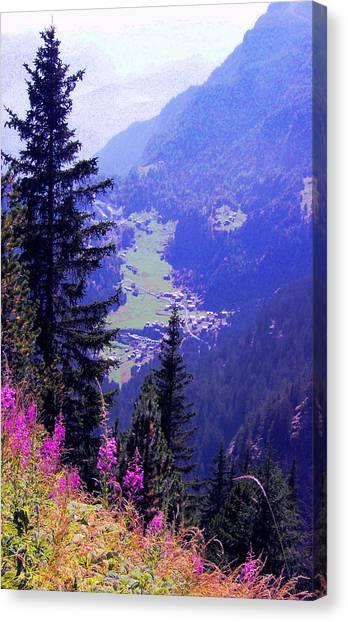 High Mountain Pastures Canvas Print