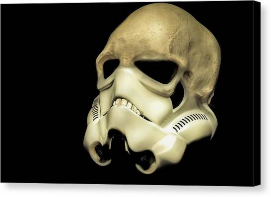 Star Wars Canvas Print -  Hirst Trooper-helmet  by Tony Leone
