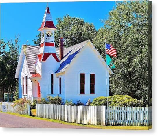 Historic Oysterville Church Canvas Print
