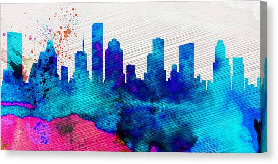 Houston Skyline Canvas Print -  Houston City Skyline by Naxart Studio