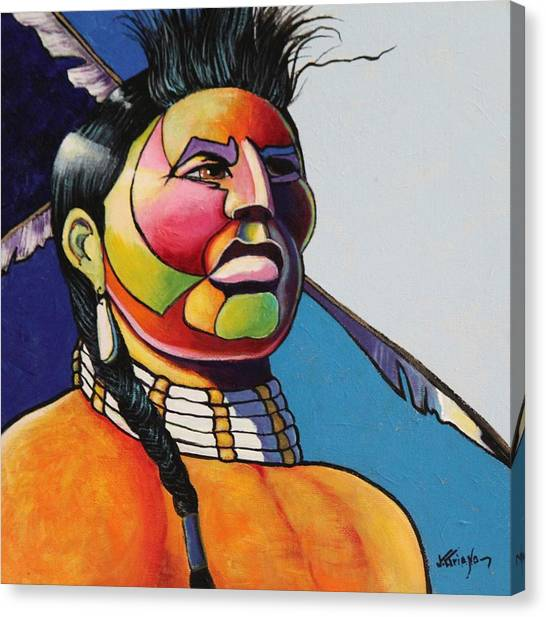 Indian Portrait Canvas Print by Joe  Triano