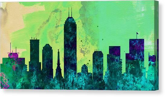 Indianapolis Canvas Print -  Indianapolis City Skyline by Naxart Studio