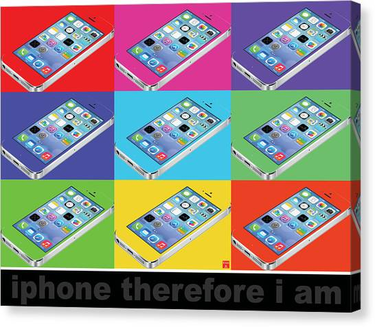 Iphone Therefore I Am Canvas Print