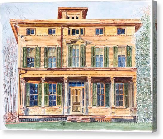Old Houses Canvas Print -  Italianate House Ny by Anthony Butera