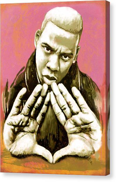 Jay Z Canvas Print -  Jay-z Art Sketch Poster by Kim Wang