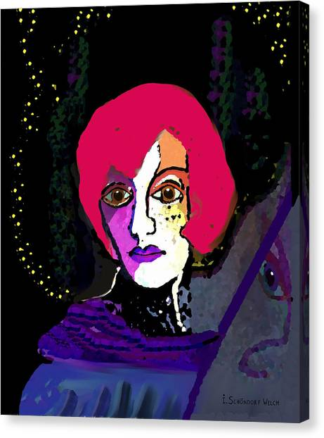 Jeanne - 924 Canvas Print by Irmgard Schoendorf Welch