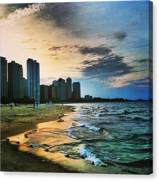 Lake Michigan Canvas Print - Balance by Jennifer Gaida