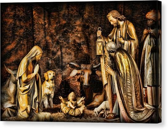 Jesus Had A Labrador Canvas Print by Lee Dos Santos