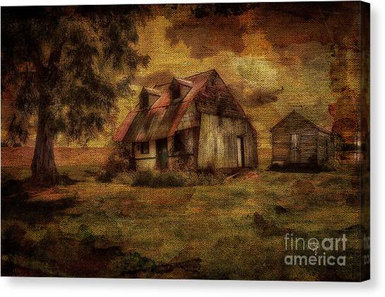 Abandoned House Canvas Print -  Just Biding Time by Lois Bryan