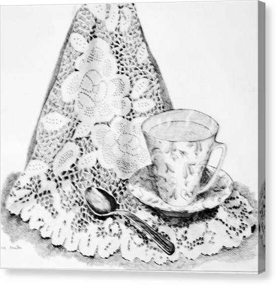 Lace With Cup Canvas Print