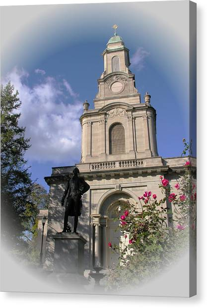 Lafayette College Easton - Roses For The Marquis Canvas Print by Jacqueline M Lewis