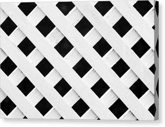Lattice Fence Pattern Canvas Print