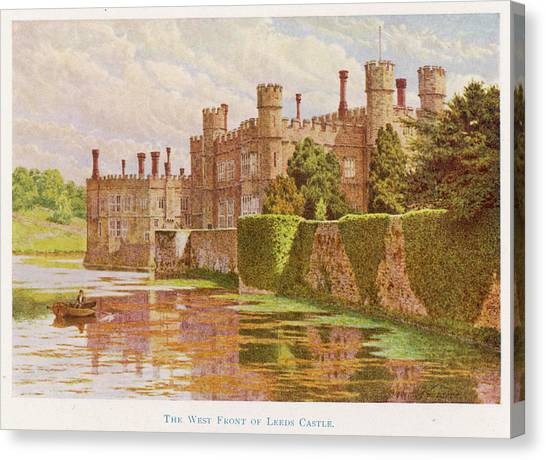 Leeds Castle, Kent         Date 1907 Canvas Print by Mary Evans Picture Library
