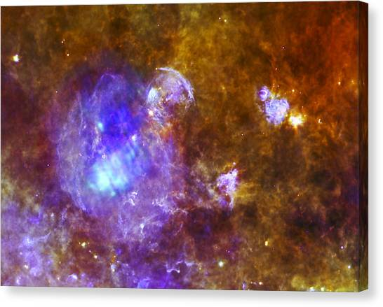 Astrology Canvas Print -  Life And Death In A Star-forming Cloud by Adam Romanowicz