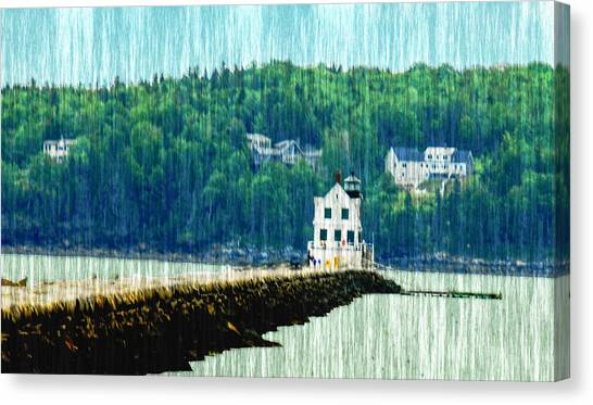 Light House Maine Canvas Print