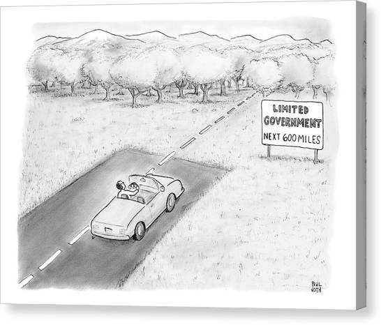 Libertarian Canvas Print -  Limited Government by Paul Noth