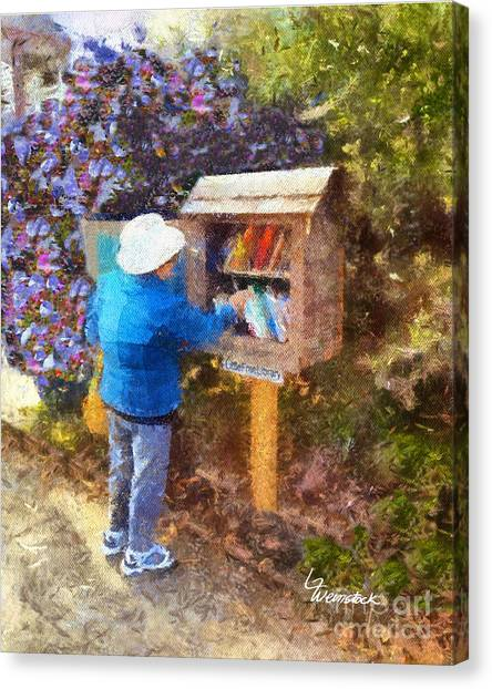 Alameda  Little Free Library Canvas Print
