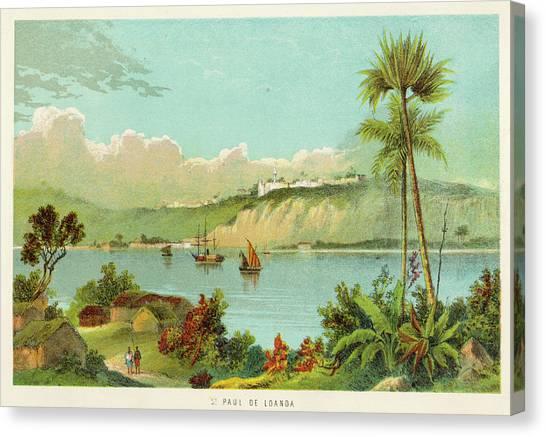 Luanda (sao Paolo De Loanda)  General Canvas Print by Mary Evans Picture Library