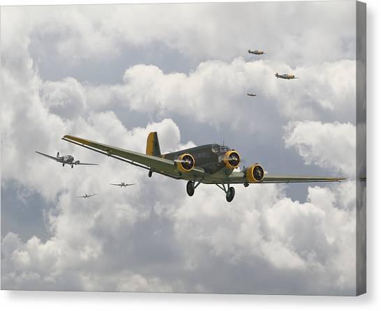Luftwaffe Canvas Print -  Luftwaffe Ju52  - Stalingrad by Pat Speirs