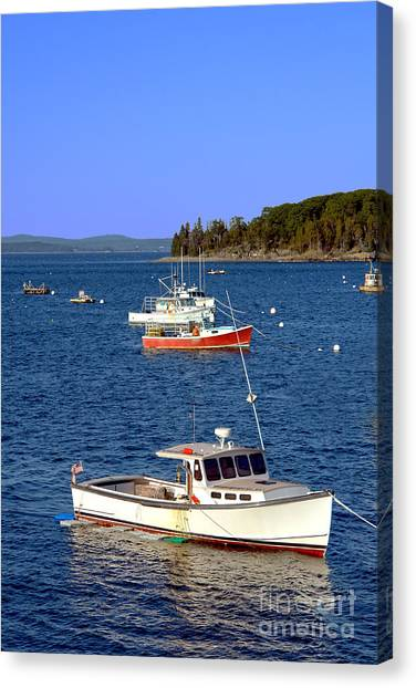 Lobster Canvas Print - Maine Lobster Boat by Olivier Le Queinec