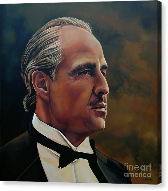 Glamour Canvas Print -  Marlon Brando by Paul Meijering