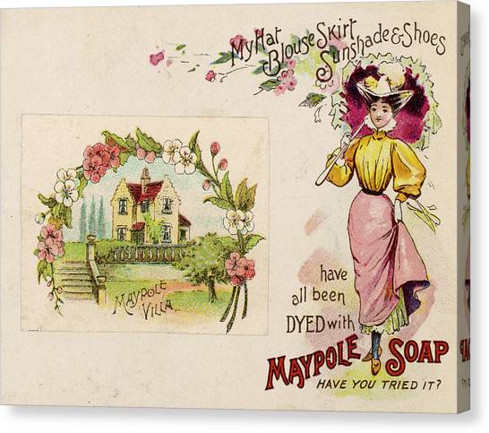 Dye Canvas Print -  Maypole Soap Dyes -  Have You Tried by Mary Evans Picture Library