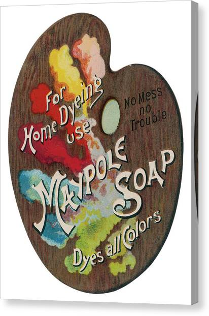 Dye Canvas Print -  Maypole Soap  For Home Dyeing Use by Mary Evans Picture Library