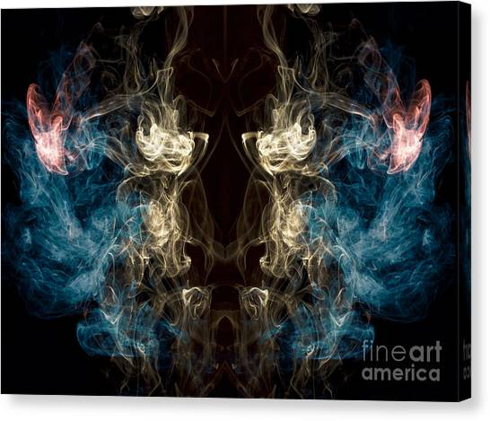 Minotaurs Canvas Print -  Minotaur Smoke Abstract by Edward Fielding
